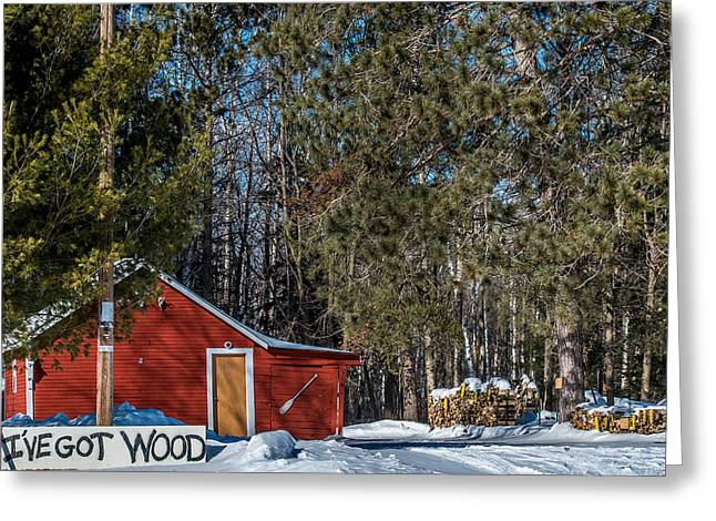 Old Barns Greeting Cards - Got Wood Greeting Card by Paul Freidlund