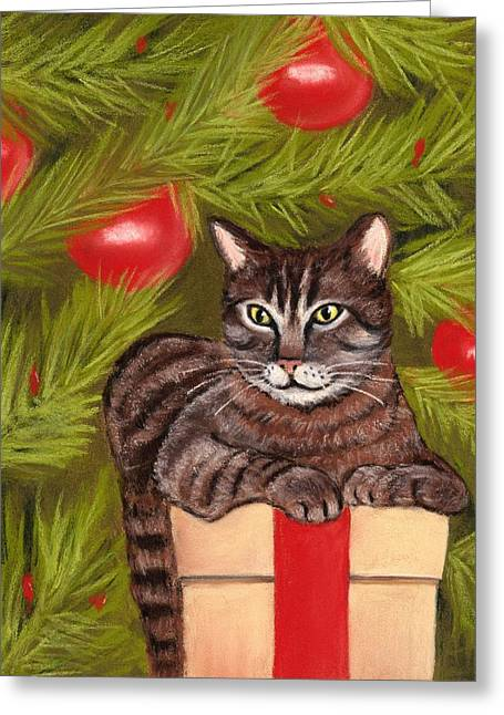 Cute Kitten Pastels Greeting Cards - Got Your Present Greeting Card by Anastasiya Malakhova