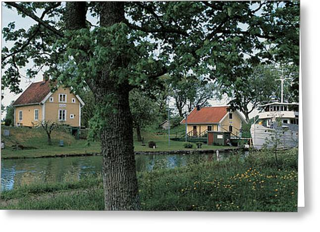 Gray Sky Greeting Cards - Gota Canal Ruda Stergotland Sweden Greeting Card by Panoramic Images