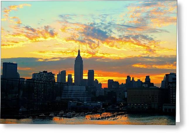 Gotcha New York City Greeting Card by Diana Angstadt