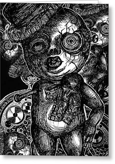 Goth Doll Greeting Card by Akiko Okabe