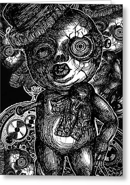 Equality Drawings Greeting Cards - Goth Doll Greeting Card by Akiko Kobayashi