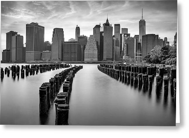 Gotham City New York City Greeting Card by Susan Candelario