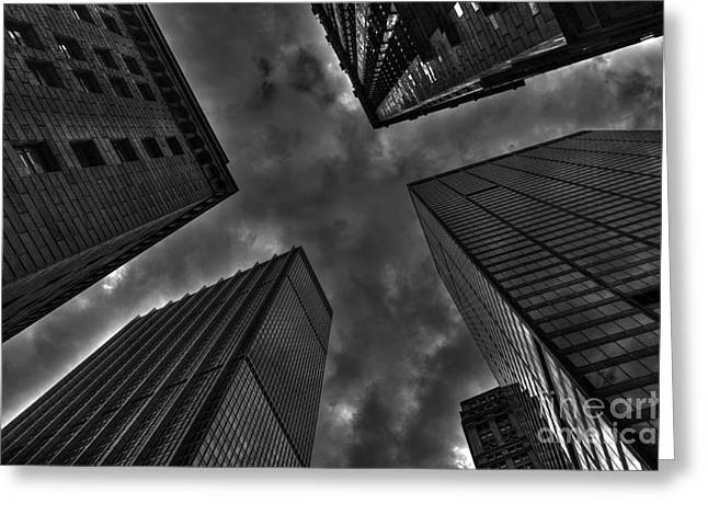 Wall Street Greeting Cards - Gotham Greeting Card by David Bearden