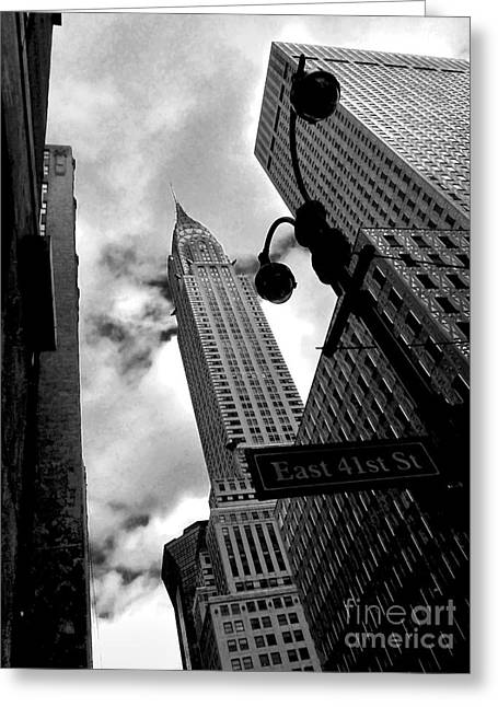 Gotham City Greeting Cards - Gotham Grit and Grace Greeting Card by James Aiken