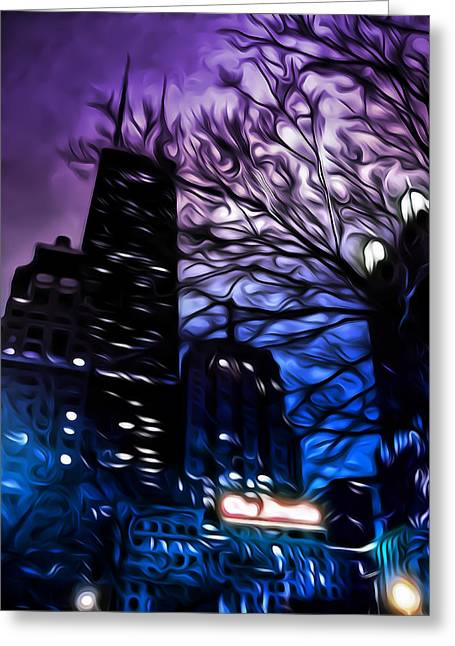 Scary Digital Art Greeting Cards - Gotham Greeting Card by Scott Norris