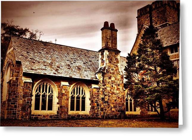 Grey Clouds Greeting Cards - Gothic Greeting Card by A R Williams