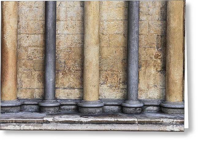Religious Photographs Greeting Cards - Gothic architecture Greeting Card by Tom Gowanlock