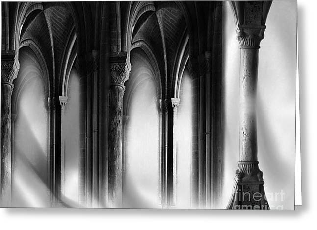 Chelsy Greeting Cards - Gothic Background Greeting Card by ChelsyLotze International Studio