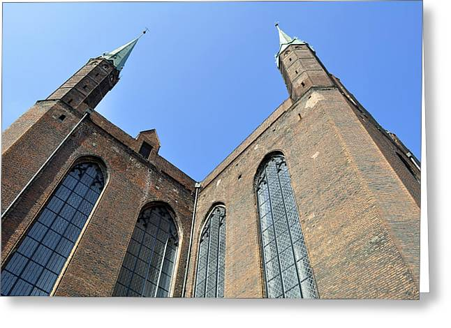 Medieval Temple Greeting Cards - Gothic basilica. Poland. Greeting Card by Fernando Barozza