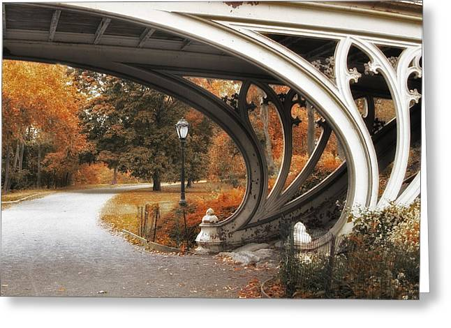 Gothic Digital Greeting Cards - Gothic Bridge Detail Greeting Card by Jessica Jenney