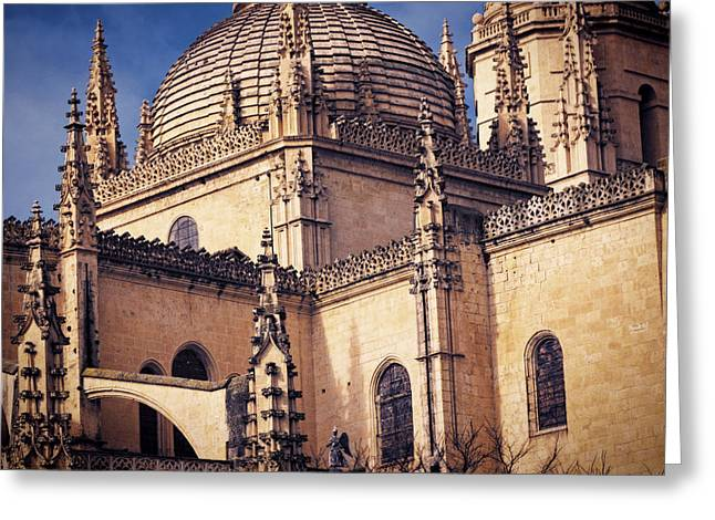 Medieval Temple Greeting Cards - Gothic Cathedral Greeting Card by Joan Carroll