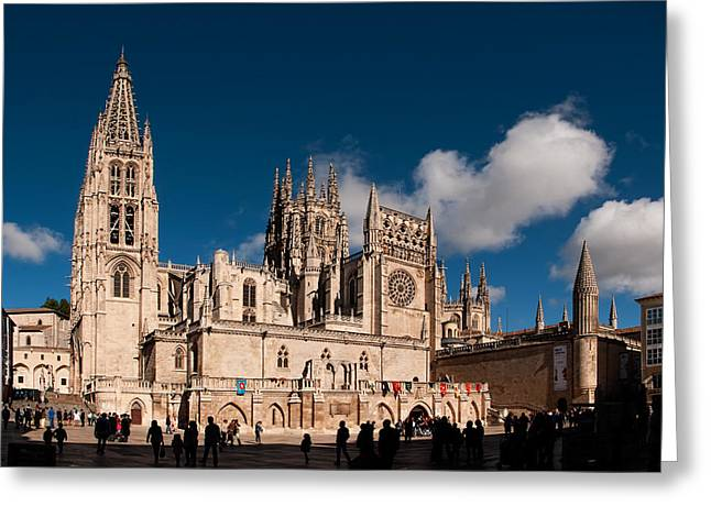 Medieval Temple Greeting Cards - Gothic Cathedral of Burgos Greeting Card by Weston Westmoreland