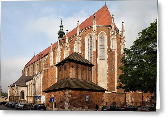 Saint Catherine Photographs Greeting Cards - Gothic Church of St. Catherine in Krakow Greeting Card by Artur Bogacki