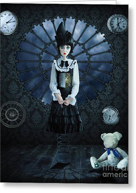 Sorrow Photographs Greeting Cards - Gothic Girl Greeting Card by Juli Scalzi