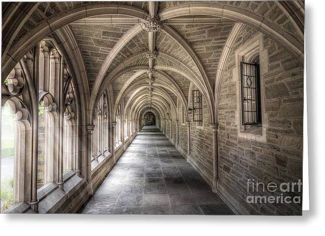 Ver Sprill Photographs Greeting Cards - Gothic Hall at Princeton NJ Greeting Card by Michael Ver Sprill
