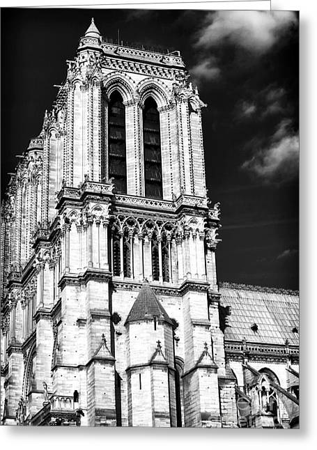 Gothic Notre Dame Greeting Card by John Rizzuto
