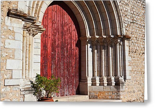 Gothic Portal Greeting Card by Jose Elias - Sofia Pereira