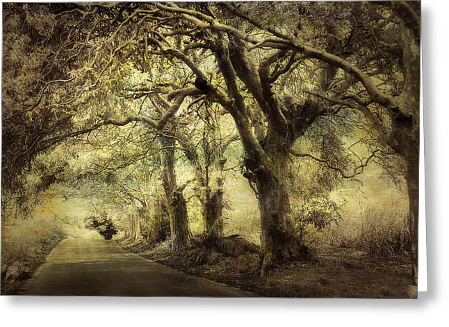 Mystic Art Greeting Cards - Gothic Road Greeting Card by Jenny Rainbow