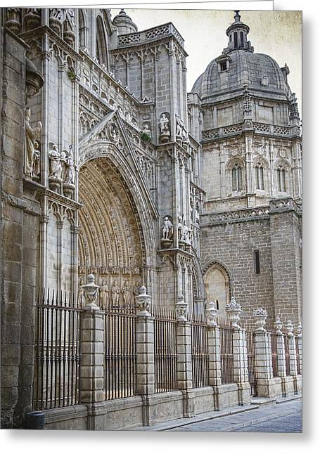 Medieval Temple Greeting Cards - Gothic Splendor of Spain Greeting Card by Joan Carroll