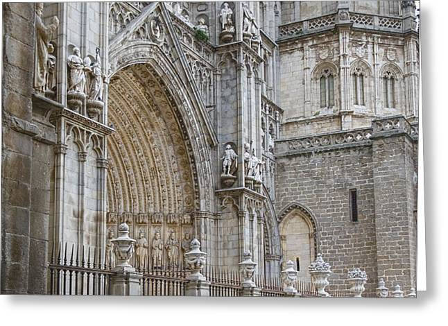 Gothic Splendor of Spain Greeting Card by Joan Carroll