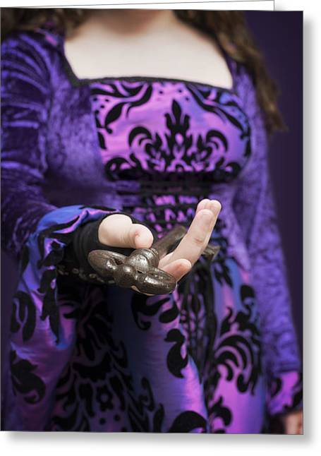 Sleeve Greeting Cards - Gothic Woman Greeting Card by Amanda And Christopher Elwell