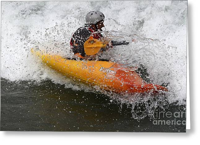 Canada Sports Greeting Cards - Kayaking Gotta Love It Greeting Card by Bob Christopher