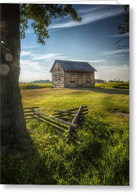 Rustic Cabin Greeting Cards - Gotten Cabin August 2014 Greeting Card by Scott Norris