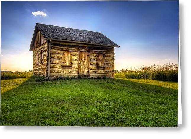 Dwelling Greeting Cards - Gotten Log Cabin Greeting Card by Scott Norris