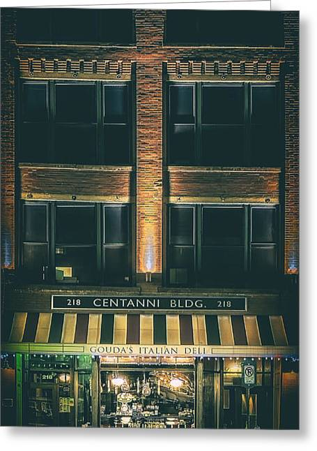 Goudas Italian Deli Color Greeting Card by Scott Norris