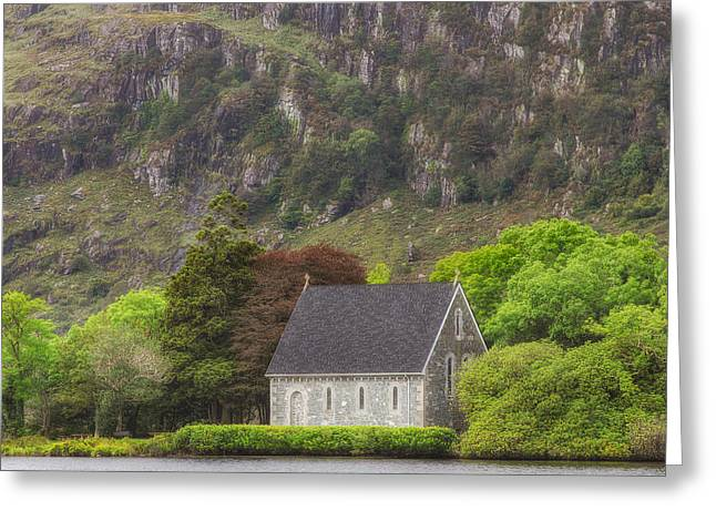 Gougane Barra Church Greeting Cards - Gougane Barra Greeting Card by Phillip Cullinane