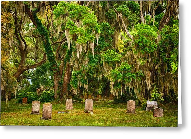 Ex-slave Greeting Cards - Goulds Cemetery Greeting Card by Priscilla Burgers
