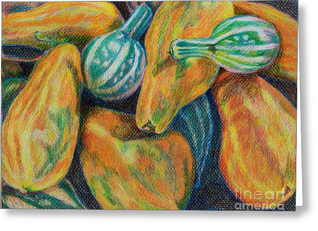 Gourds for Sale Greeting Card by Janet Felts
