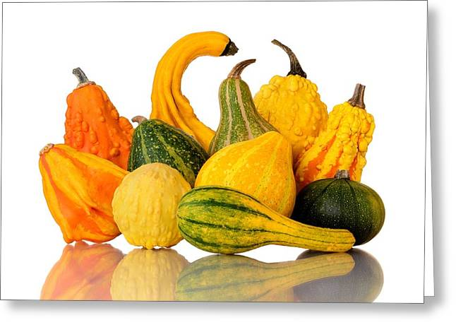 Rattle Greeting Cards - Gourds Greeting Card by Jim Hughes