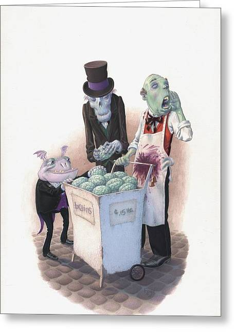 Undead Greeting Cards - Gourmets Greeting Card by Richard Moore