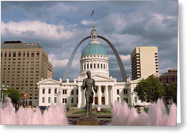 Running Water Greeting Cards - Government Building And Fountain Greeting Card by Panoramic Images