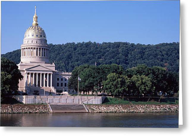 Capitol Greeting Cards - Government Building At The Riverside Greeting Card by Panoramic Images
