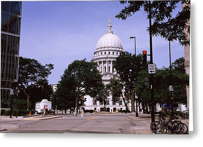 Capitol Greeting Cards - Government Building In A City Greeting Card by Panoramic Images