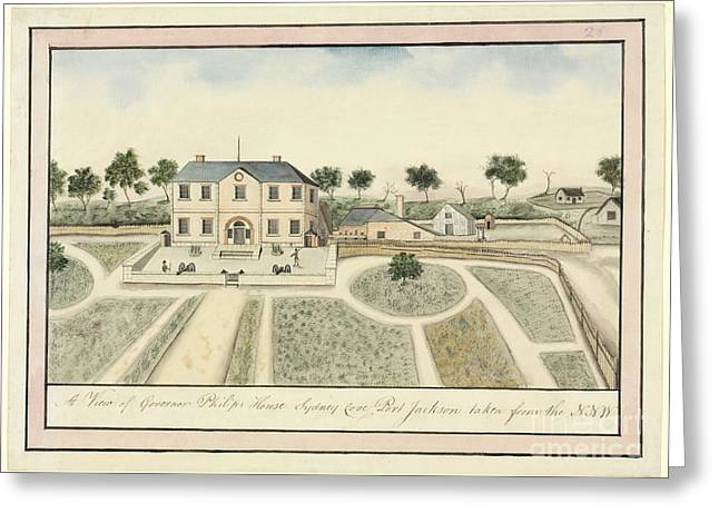 Outbuildings Greeting Cards - Government House, Sydney, 18th Century Greeting Card by Natural History Museum, London