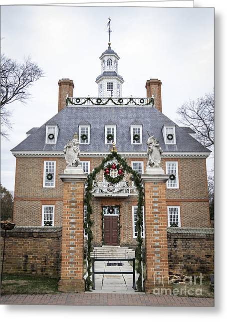 Cupola Greeting Cards - Governors Palace with Gate Greeting Card by Teresa Mucha
