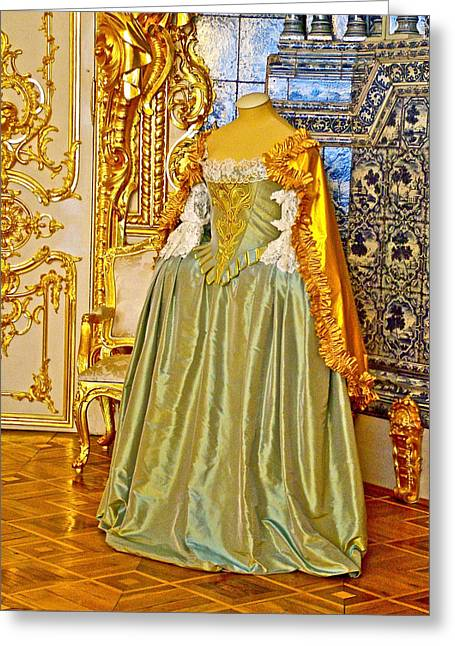 Worn In Digital Greeting Cards - Gown Likely Worn Once by Empress Catherine in Catherines Palace in Pushkin-Russia Greeting Card by Ruth Hager