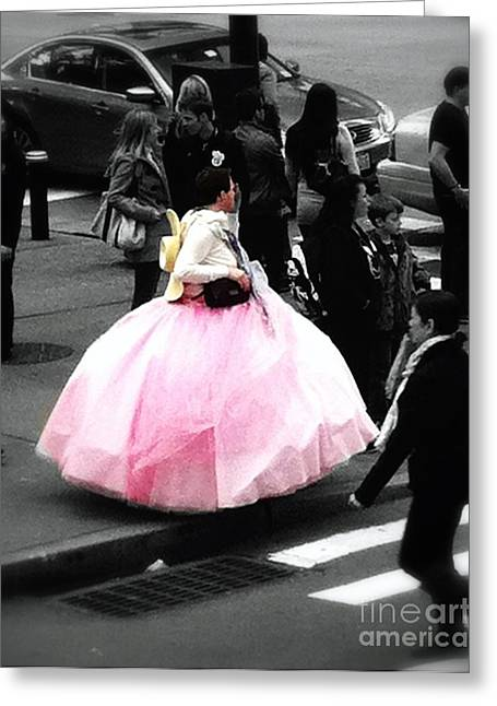 Ball Gown Greeting Cards - Gown Of Pink Greeting Card by Susan Garren