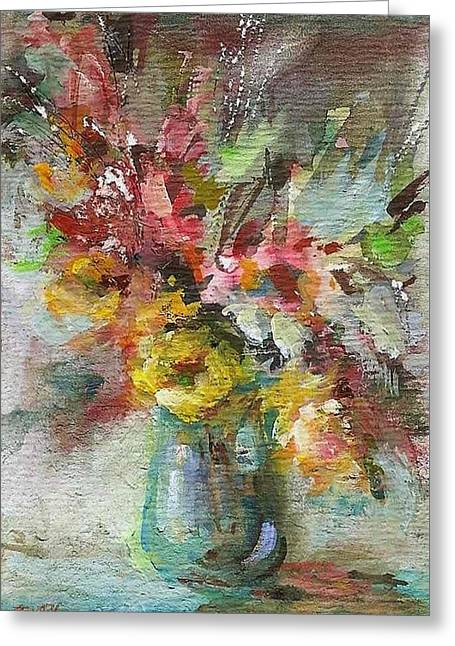 Grace And Beauty Greeting Card by Mary Wolf