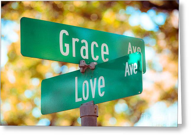 Affirmation Greeting Cards - Grace and Love Photo Greeting Card by Sonja Quintero