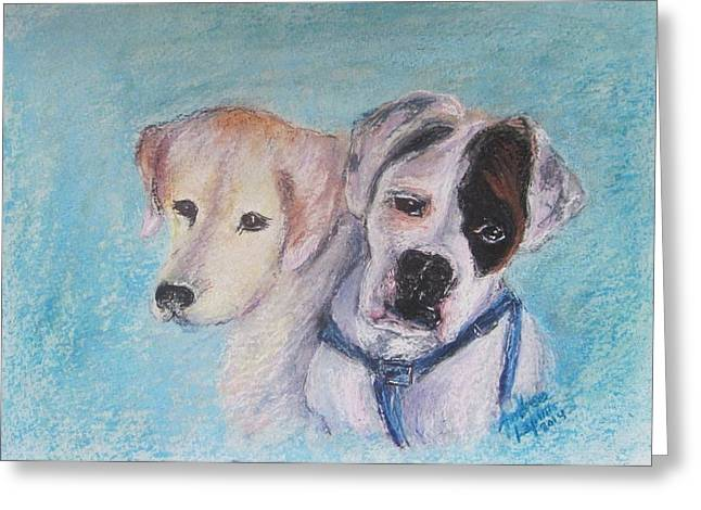 Boxer Pastels Greeting Cards - Grace and Strength Greeting Card by Andrea Flint Lapins