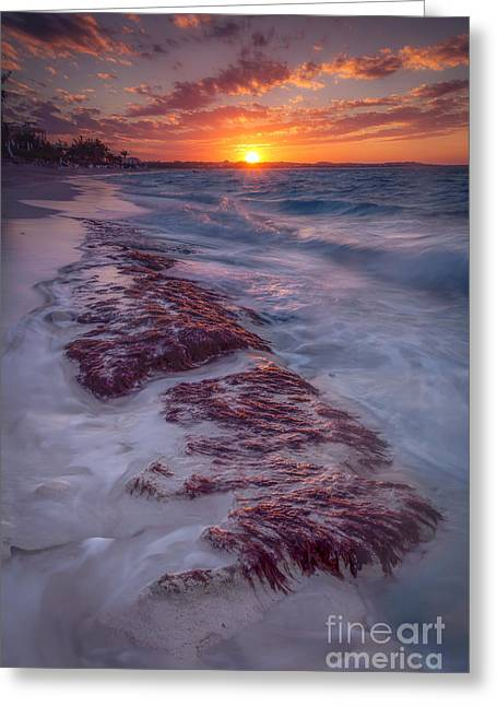 Temperature Photographs Greeting Cards - Grace Bay Sunset Greeting Card by Marco Crupi