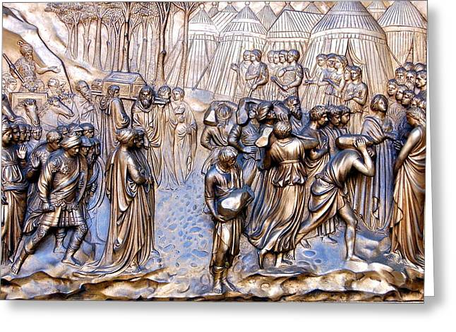 Recently Sold -  - Entrance Door Greeting Cards - Grace Cathedral Door Panel Greeting Card by YJ Kostal