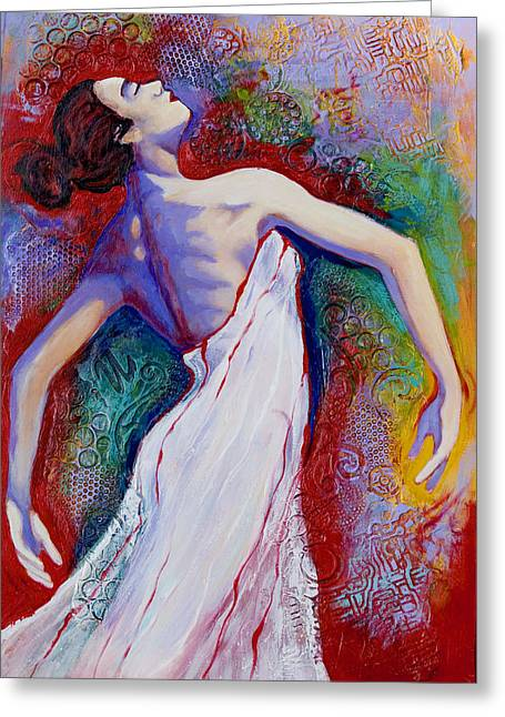 Ballet Dancers Greeting Cards - Grace Greeting Card by Claudia Fuenzalida Johns