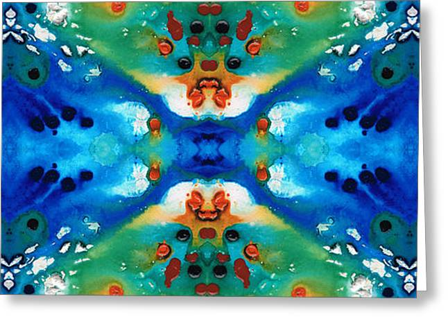 Symbolism Greeting Cards - Grace - Colorful Art by Sharon Cummings Greeting Card by Sharon Cummings