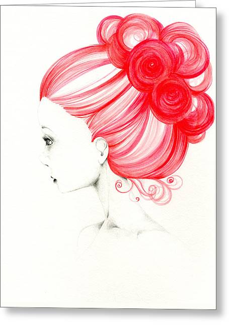 Original Paining Greeting Cards - Grace Greeting Card by Joanna Haber